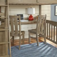 Highlands Loft Bed in Driftwood with desk option