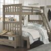 Highlands Harper Bunk Bed with trundle in Driftwood finish.