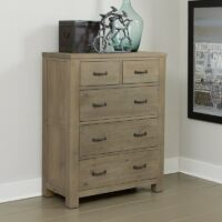Highlands 5 Drawer Chest in Driftwood