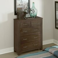 Highlands 5 Drawer Chest in Espresso