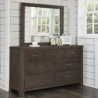 Highlands 7 Drawer Dresser in Espresso with optional mirror