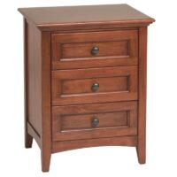 Whittier Wood McKenzie 3 Drawer Nightstand in Antique Cherry