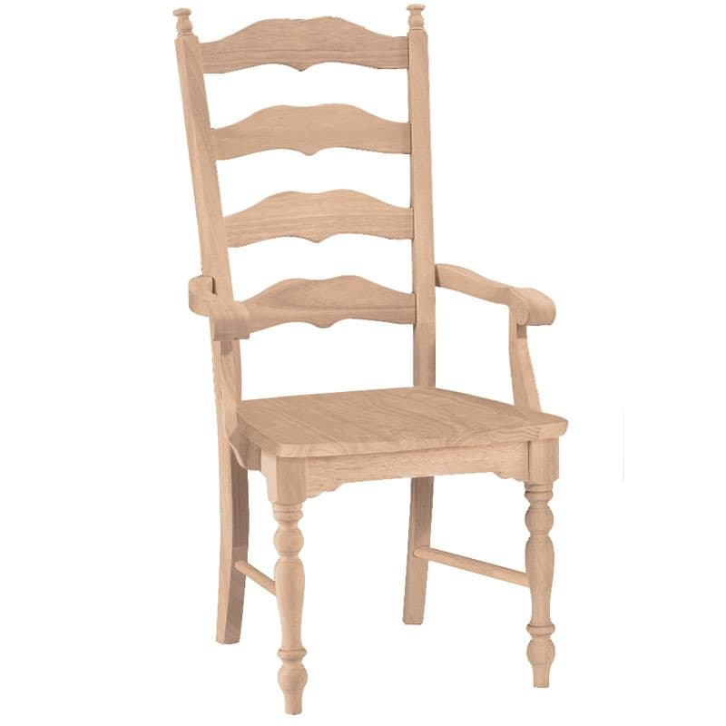 Maine Ladderback Dining Arm Chair