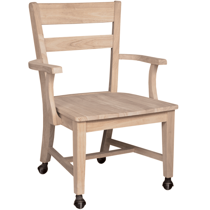 Dining Room Chairs With Wheels: Mission Dining Side Chair With Casters