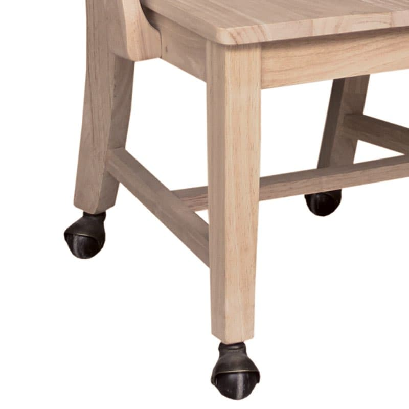 Dining Chair With Wheels: Mission Dining Side Chair With Casters