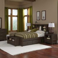 Highlands Bookcase Bed Headboard in Espresso
