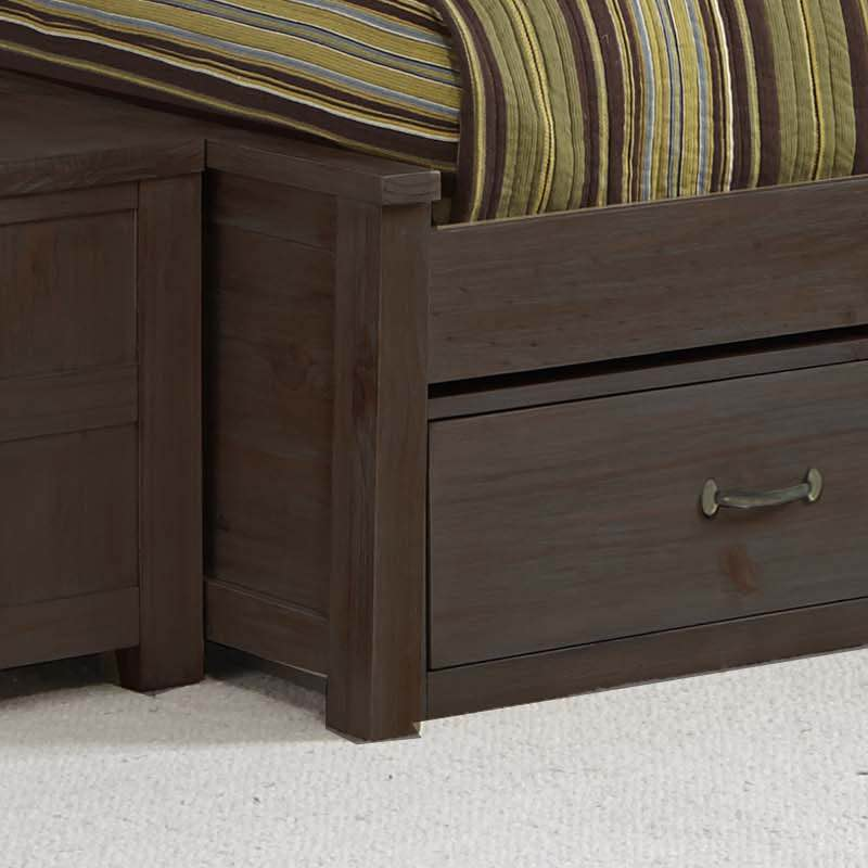 Highlands espresso full bookcase bed bedroom set for Furniture in the raw