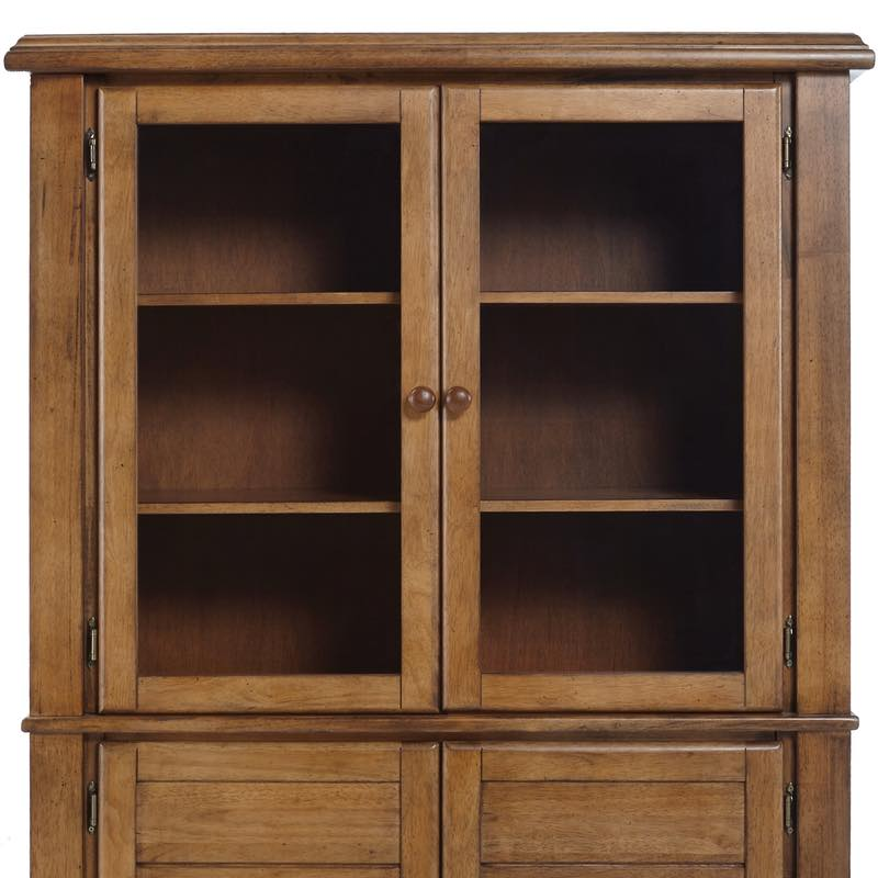 Canyon pecan hutch free shipping for Furniture in the raw