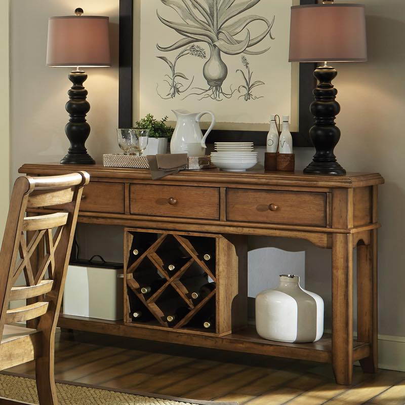 Canyon dining room server free shipping for Furniture in the raw