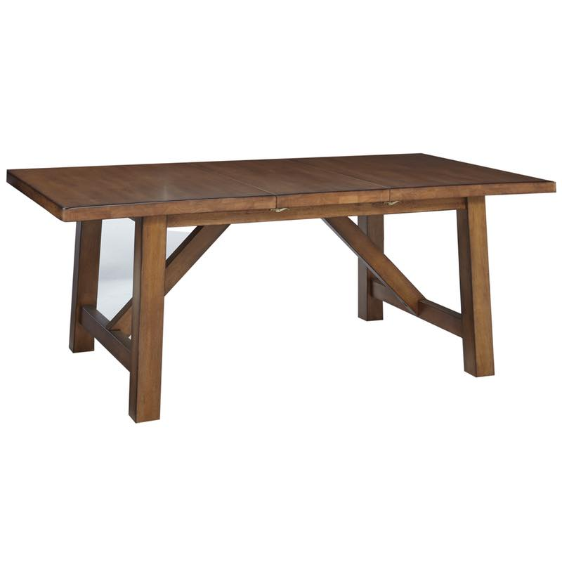 canyon pecan dining extension table free shipping