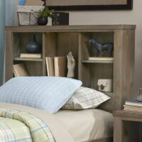 Highlands Bookcase Bed Headboard in Driftwood