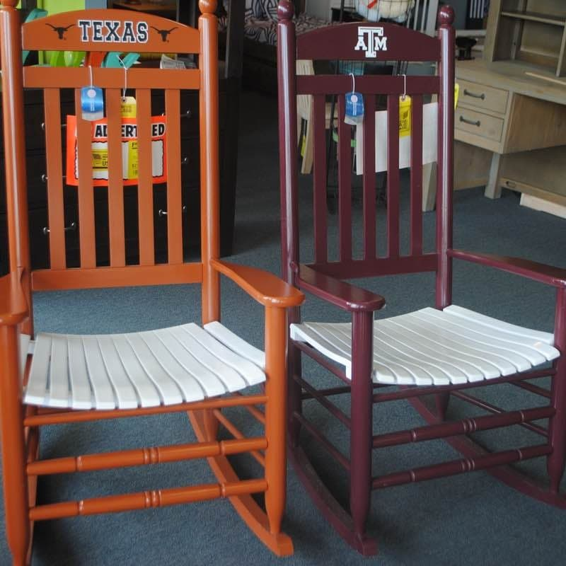 Prime University Of Texas And Texas Am Shaker Rockers Unemploymentrelief Wooden Chair Designs For Living Room Unemploymentrelieforg