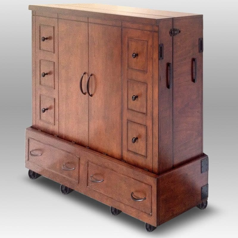 Apothecary Mobile Cabinet Bed