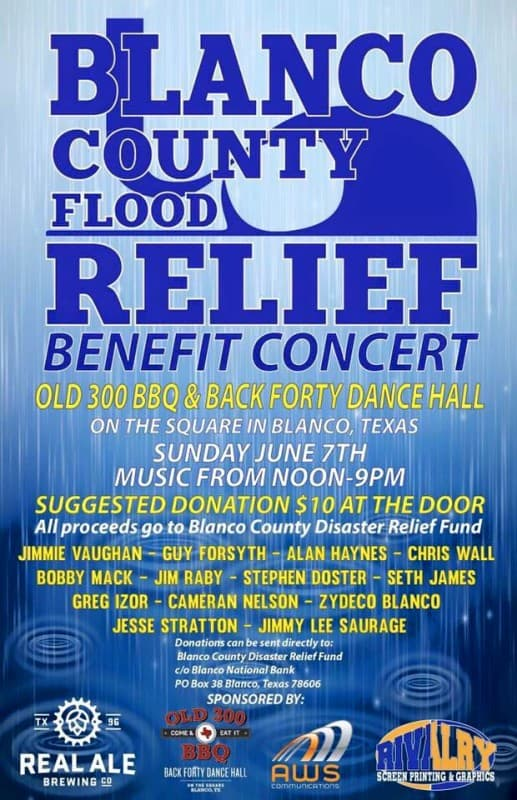 Blanco County Flood Relief Benefit Concert