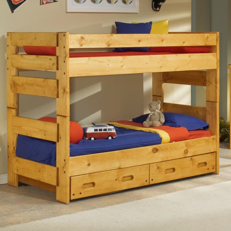 Trendwood Wrangler Bunkhouse Twin Bunk Bed Mattresses Included
