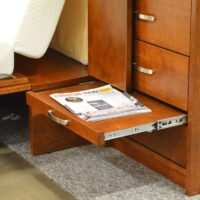 Optional lower drawers piers with pull out desk