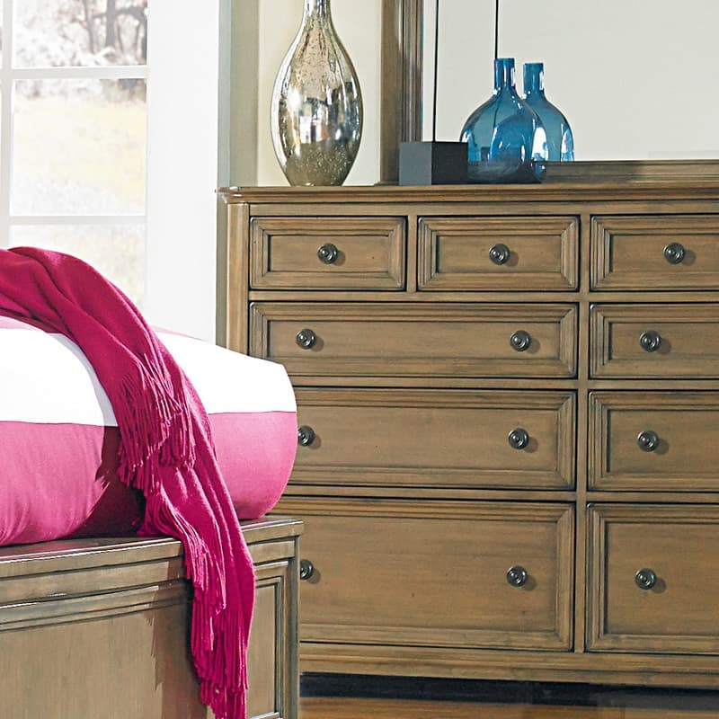 Whittier Stonewood King Bed and dresser