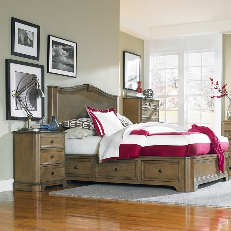 Whittier Wood Stonewood Storage Bedroom Collection