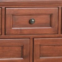Whittier Wood McKenzie Dresser – 9 Drawer in Antique Glazed Cherry