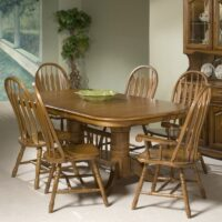 Classic Oak Extension Dining Table in Burnished Rustic finish