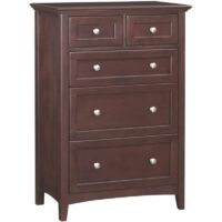 Whittier Wood McKenzie Tall Chest - 5 Drawer in Caffe