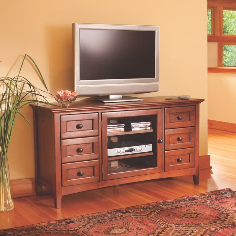 Whittier Wood Mckenzie Small Entertainment Center Free Shipping