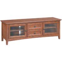 Whittier Wood McKenzie TV Stand in Glazed Antique Cherry finish