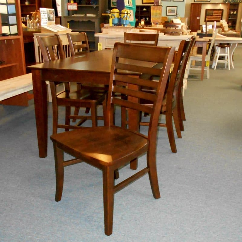 Home Shaker Espresso Dining Set With Roma Chairs