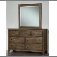 106-003-445 Dark Oak Loft Dresser and Mirror Artisan & Post
