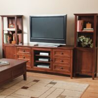 Whittier Wood McKenzie Entertainment Center in Glazed Antique Cherry