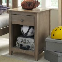 BD09-7001 1 drawer Lancaster Nightstand Weathered Grey