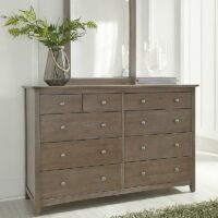 BD09-7010 Lancaster 10 drawer dresser weathered grey