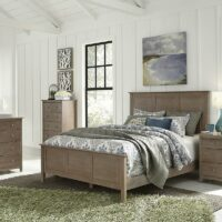 BD09-702 Lancaster Bed in Weathered Grey