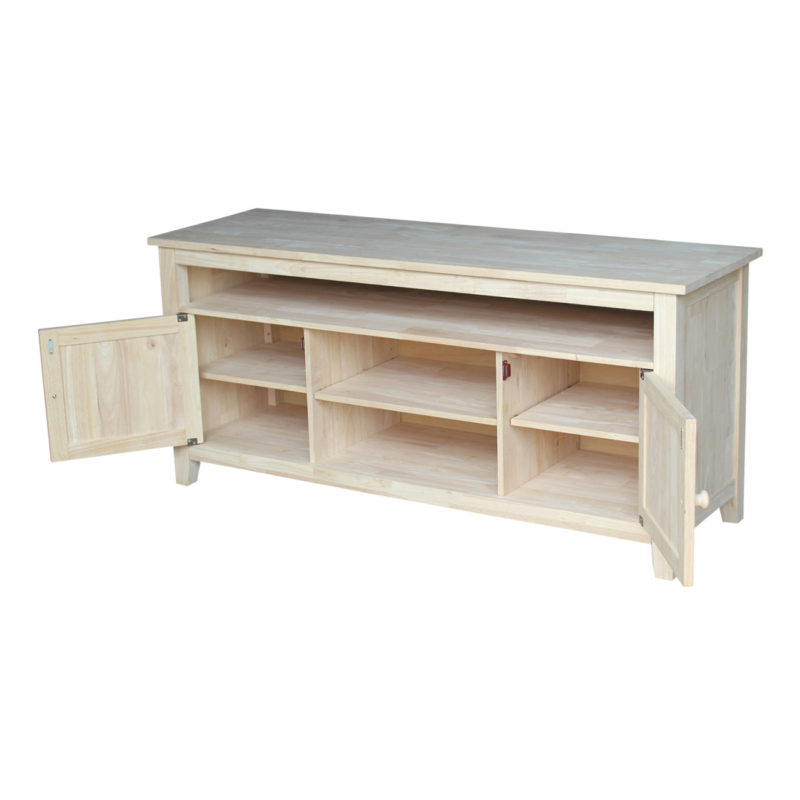 The Sturbridge Tv Stand Is Solid Wood And Unfinished Or Espresso