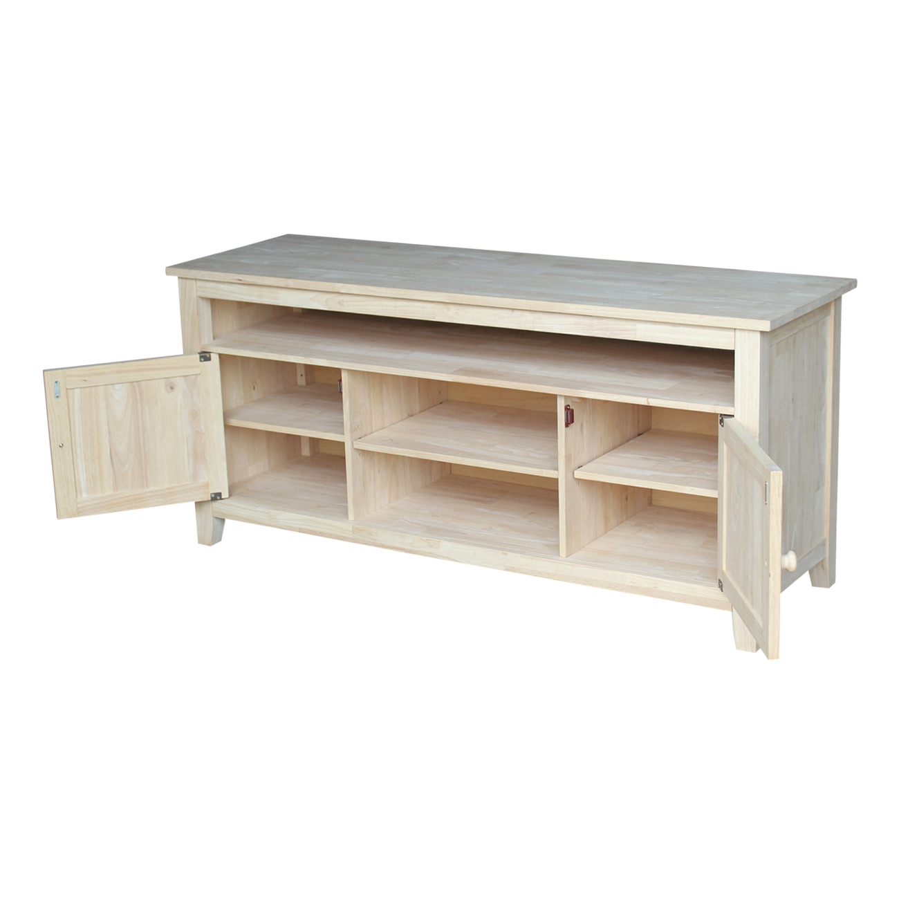 The Sturbridge Tv Stand Is Solid Wood And Unfinished Or