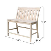 be-132 Ava Counter Bench by Whitewood
