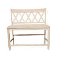 be-202 Double XX Counter Bench Whitewood
