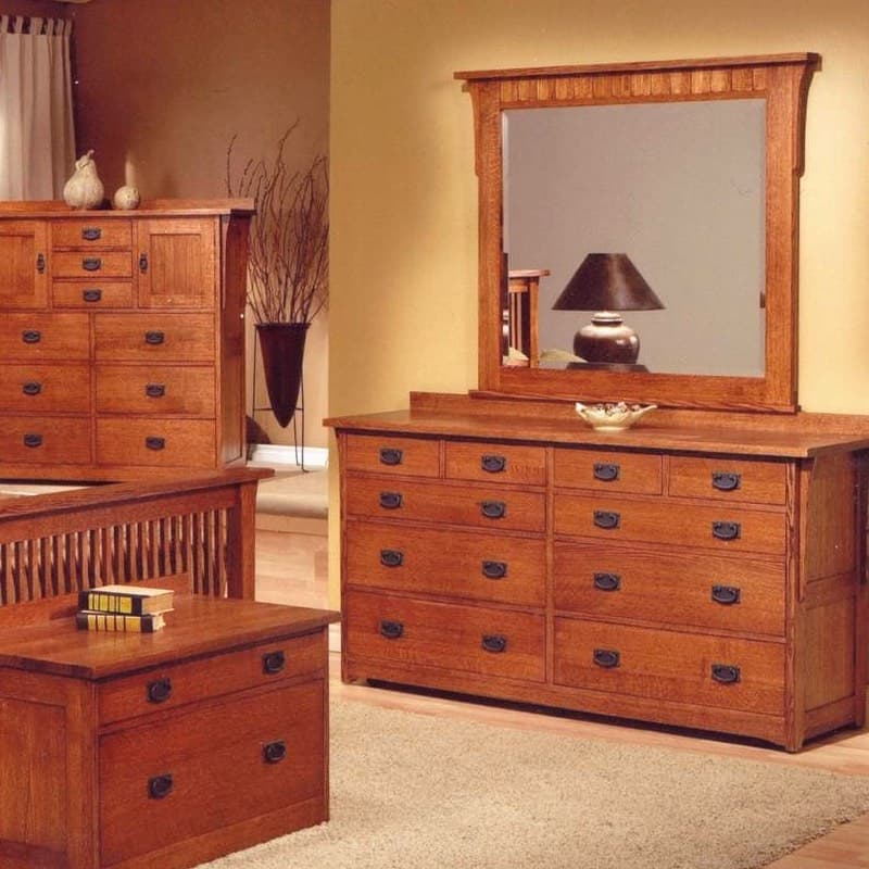 trend manor mission dresser with 10 drawers
