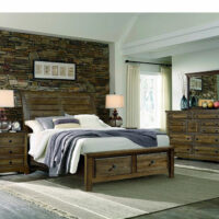 Artisan and Post Sleigh bed with storage footboard