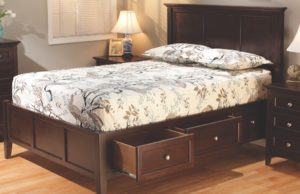 Full size McKenzie Storage Bed slider