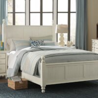 Cottage Bed in Distressed White