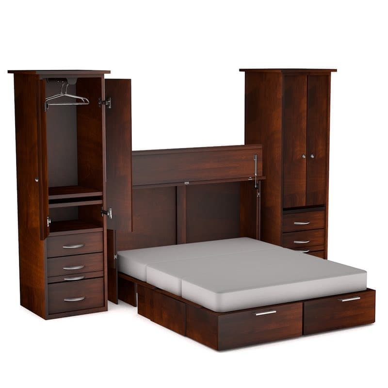 Denva Cabinet Bed And Piers Free Shipping