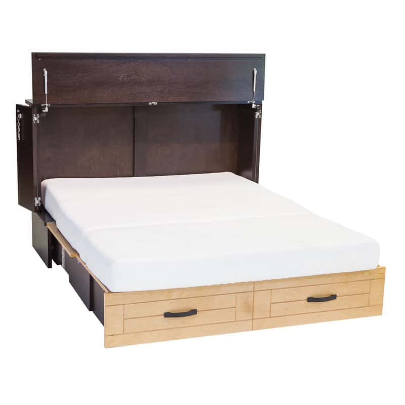 The Metro Cabinet Bed Has A Modern Style In Real Wood