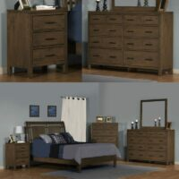 2 West Bedroom Set in Driftwood finish