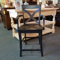 Whitewood high distressed stool