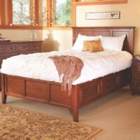 Whittier Wood Full size McKenzie Storage Bed Glazed antique Cherry