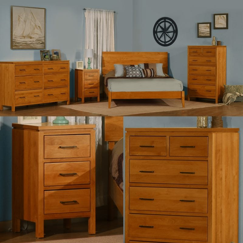 2 west amish queen bedroom set