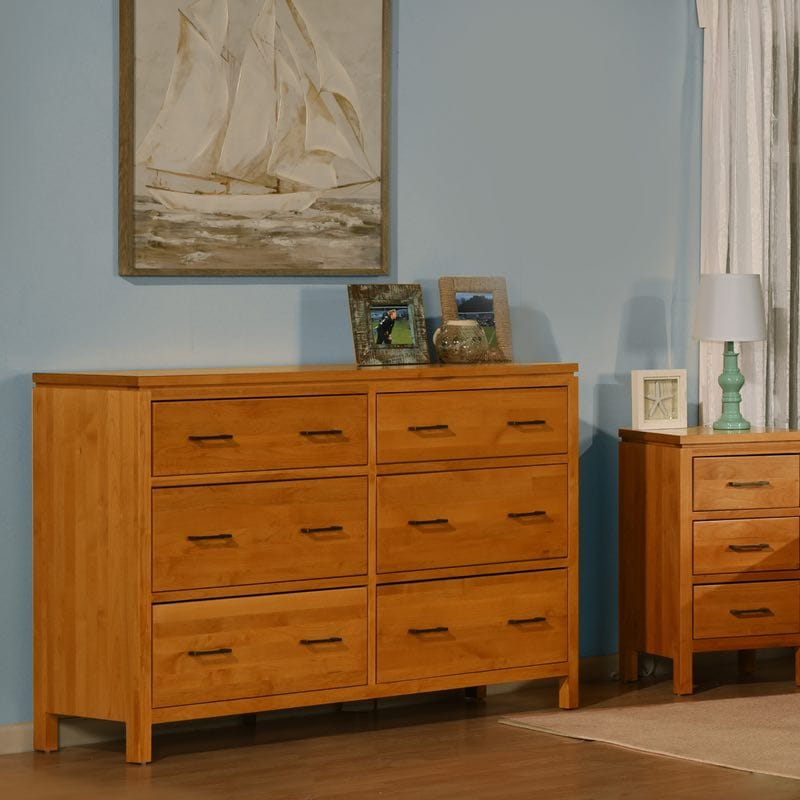 2 West Bedroom Ten Drawer Dresser With Blanket Drawers And