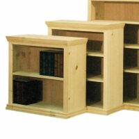 Traditional Full Wrap Solid Wood Bookcase 24 inches and 36 inches