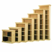 Traditional Full Wrap Solid Wood Bookcase